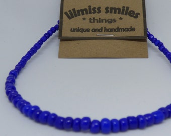 4mm Blue Glass Beads