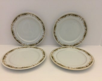 Set of 4 - Queen Anne Signature Collection Salad plates - 1970's