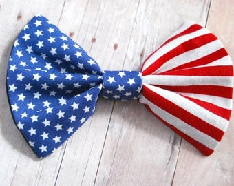 American Flag Bow // Patriotic, USA, 4th of July, Memorial Day, Novelty