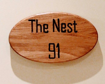 Wooden house sign. House name plaque. House number. Birthday present. Wedding anniversary. New home. Moving house gift. Mothers day