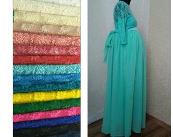 Maternity dress,  Maternity wedding dress,  Maternity birthday dress,  Pregnant dress mint color