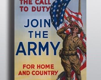"""WWI Recruiting Poster - """"Join the Army"""" - 11x17"""