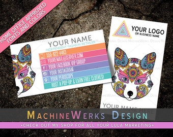 LuLa Business Cards • LLR Business Cards • Home Office Approved Fonts and Colors • LuLa LLR Marketing Materials Roe • MachineWerks