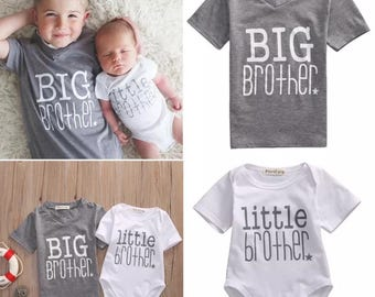 Big Brother Little Brother Shirts, Matching Sibling Shirts, Big Brother Little Brother, Matching Coming Home Outfit, big bro lil bro