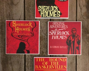 Costum Coasters, Sherlock Holmes, Wall Decor, Sherlock Holmes  Coasters, Office Decor, Coasters, Coaster, Drink Coasters, Valentine's Day