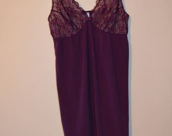 Code FOREVER15: 15% babydoll with lace and velvet Violet X-Small/Small vintage