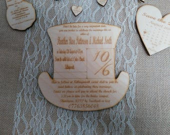 Mad Hatter's Tea Party Top Hat Invitation