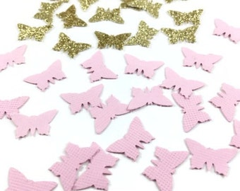 Butterfly confetti, Butterfly party, Pink and gold butterfly confetti, Butterfly party decor , Pink and silver butterfly confetti, Butterfly