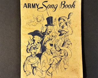 Military Song Book Army Song Book WW2 Song Book 1941 Military Song Book Mid Century Military Song Book