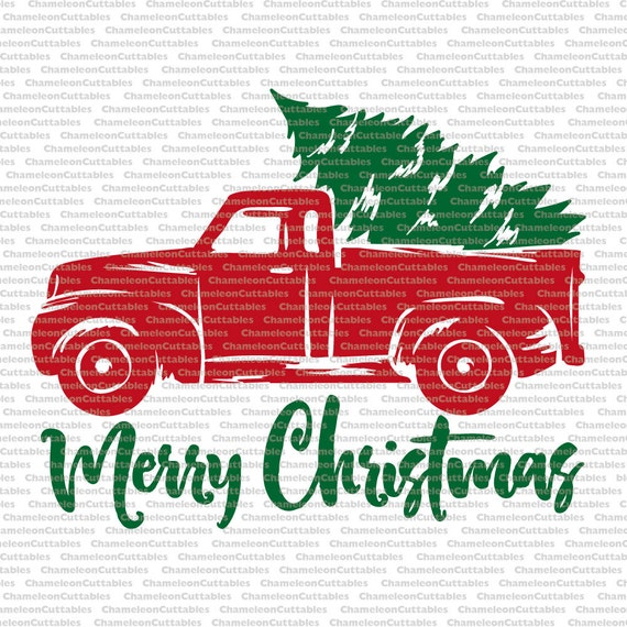 Download Christmas Truck, svg, cut, file, decal, vector, tree ...