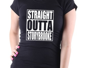 Once Upon A Time Straight Outta Storybrooke Ladies T Shirt