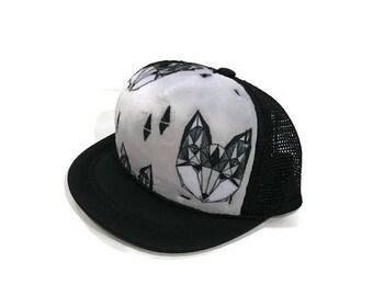 Fox Minky Baby Trucker Hat, Black SnapBack