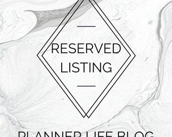 Reserved listing for Erica @ The Planner Life Blog - Classic Happy Planner Divider