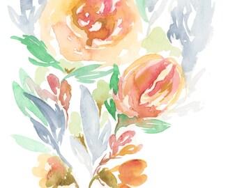 I Love Us Watercolor Print