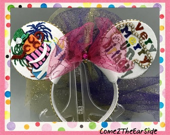 Very Merry Unbirthday Alice in Wonderland Cheshire Cat Mad Hatter White Rabbit  inspired Birthday Disney Minnie Ears Disney Mickey Ears