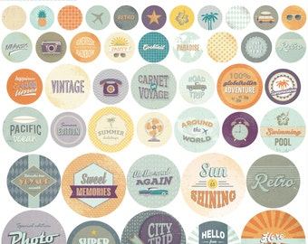 Print stickers round Vintage 30 x 30 cm - stickers - round Stickers - Stickers Vintage Retro - 11004614