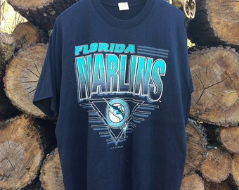 Vintage 1993 Competitor Florida Marlins T-Shirt Sz XXL (Fits like XL) USED
