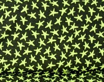 Alva stars - star - neon - black knitted fabric