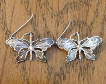 Butterfly Sterling Silver Earrings