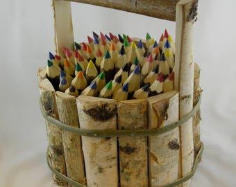 60 Piece Twig Crayon Set with Handle