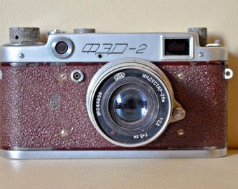 The camera FED 2 Brown. USSR. No. 410805