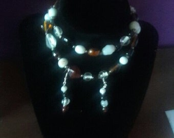 Crystal Beads Necklace &a Earring Set