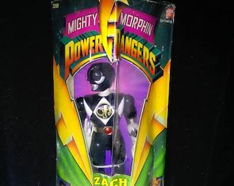 Vintage Power Rangers Action Figure Black Ranger Bandai *****1990's******* 8 inch
