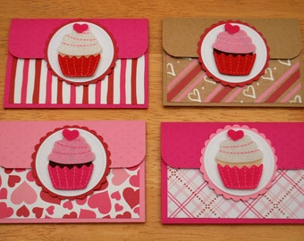 Valentine's Day Pop-up Gift Card Holders - Love Gift Card Holders - Heart Cupcake Gift Card Holders - Romantic Gift Card Holders
