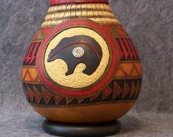 Fine Gourd Art - Southwestern Motiff