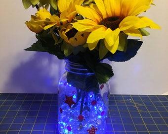 Beautiful lighted sunflower arrangement