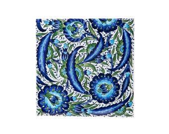 Ceramic Tile, Turkish Tile, Ottoman Tile, Iznik Tile, Wall Tile, Decorative Tile, Turkish Ceramic, Turkish Design, Iznik Design, Wall Art
