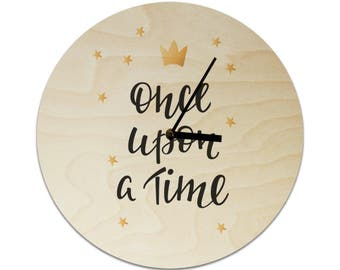 Once Upon A Time Fairytale Childrens Clock / Kids Clock