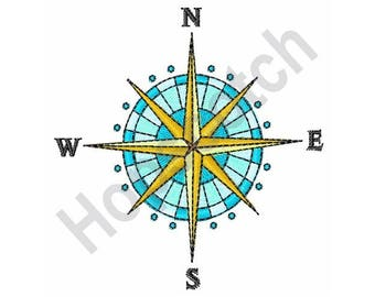 Compass Rose - Machine Embroidery Design