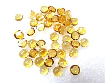 10 pcs Lot 6 mm CITRINE Round Cabochon Smooth polished gemstone