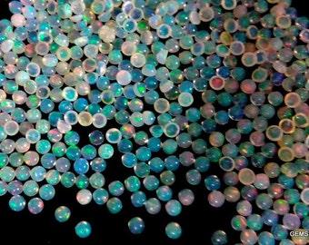 25 pcs Lot 3mm ETHIOPIAN OPAL Cabochon Round gemstone AAA Natural Ethiopian opal round cabochon loose gemstone - Opal Cabochon Gemstone