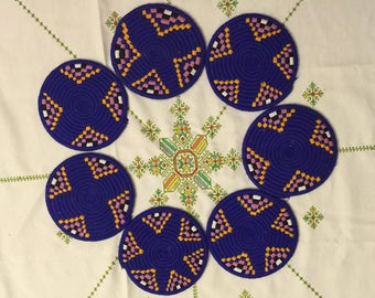 Moroccan Handmade Wool Placemat Set of 7