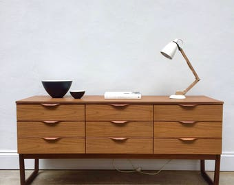 SOLD Vintage Europa Teak Sideboard / Chest of Drawers. Danish Retro. Mid Century SOLD