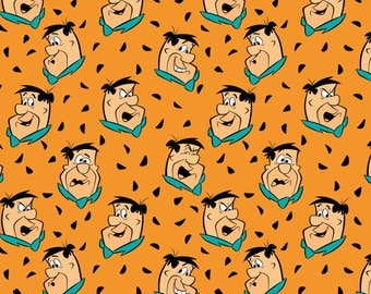 Pre-Order Camelot Fabrics Flintstones Cotton Fabric - By the Yard - Available August 2017
