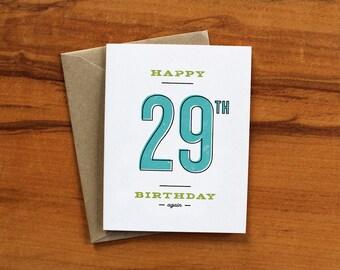 Happy 29th Birthday - Again