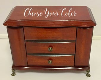 Choose Your Color Hand Painted Jewelry Armoire MADE TO ORDER