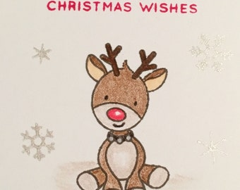"""12 Mini Hand Crafted Note Cards & Envelopes 3"""" x 3"""" Christmas Gift N033"""