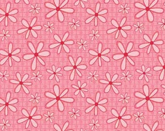 4486 25043 PINK BASICALLY HUGS From Red Rooster Fabrics - Pink with flowers