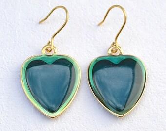 Ilaria-Italian Vintage Jewelry, Resin, Emerald, Purple