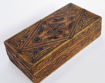 Lovely Vintage Florentine Gilt Gesso Wooden Box