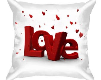 Love  Decorative Pillow gift for those who love White and red Valentine's Day Gift Birthday Gift Gift for her