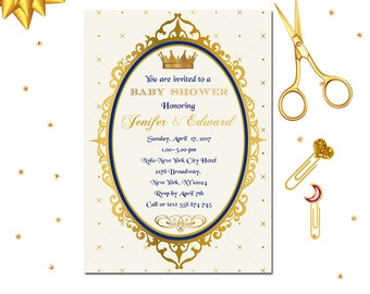 royal prince invitation royal baby shower invitation little prince invitation baby shower
