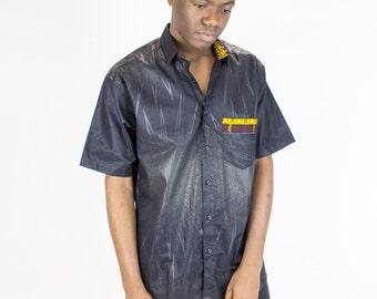 African Prints Men Bazin Shirts