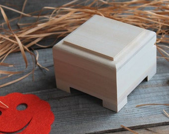 Small wooden box, unfinished wood box,craft wood box, handmade box, trinket box,box, craft supplies, unfinished wood,rustic wood