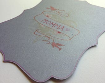 Personalized hand painted flat notecard with envelope