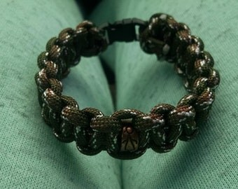 Camouflage Paracord Bracelet with Charm